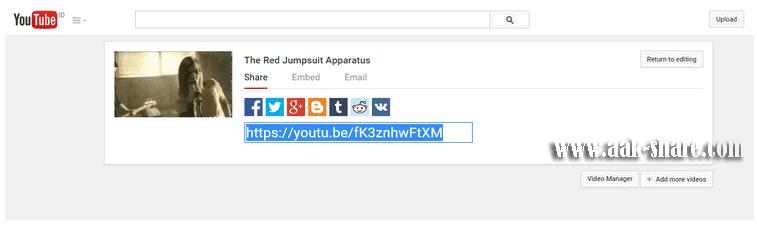 link video yang telah diupload