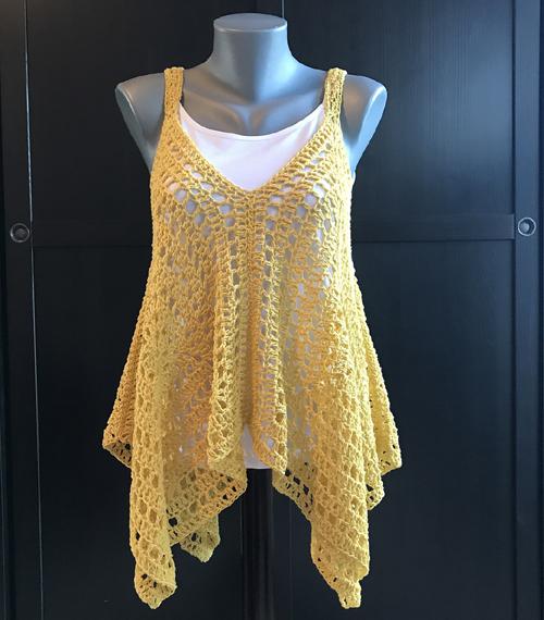 Kanata Kerchief Tank - Free Crochet Pattern