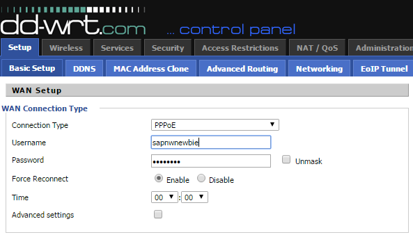 Connect DD-WRT to internet