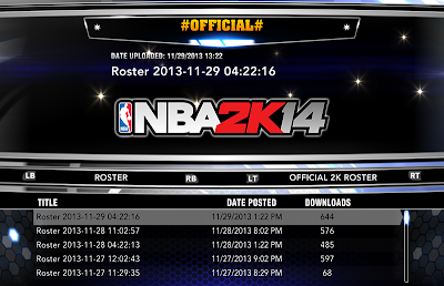 NBA 2K14 Roster Update 11-29-13