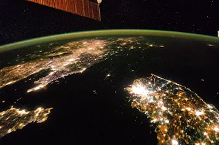 The Koreas from space at night