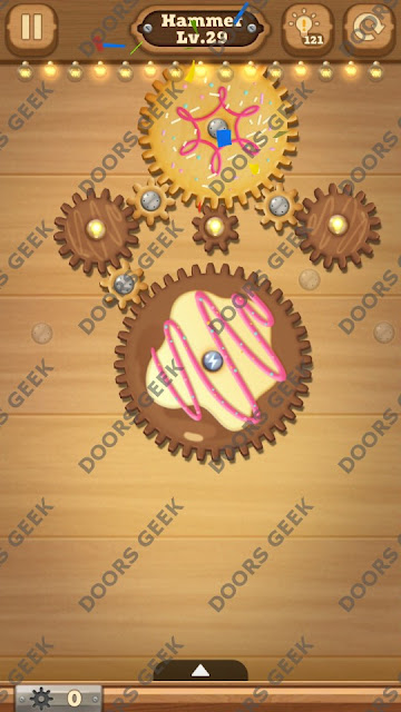 Fix it: Gear Puzzle [Hammer] Level 29 Solution, Cheats, Walkthrough for Android, iPhone, iPad and iPod