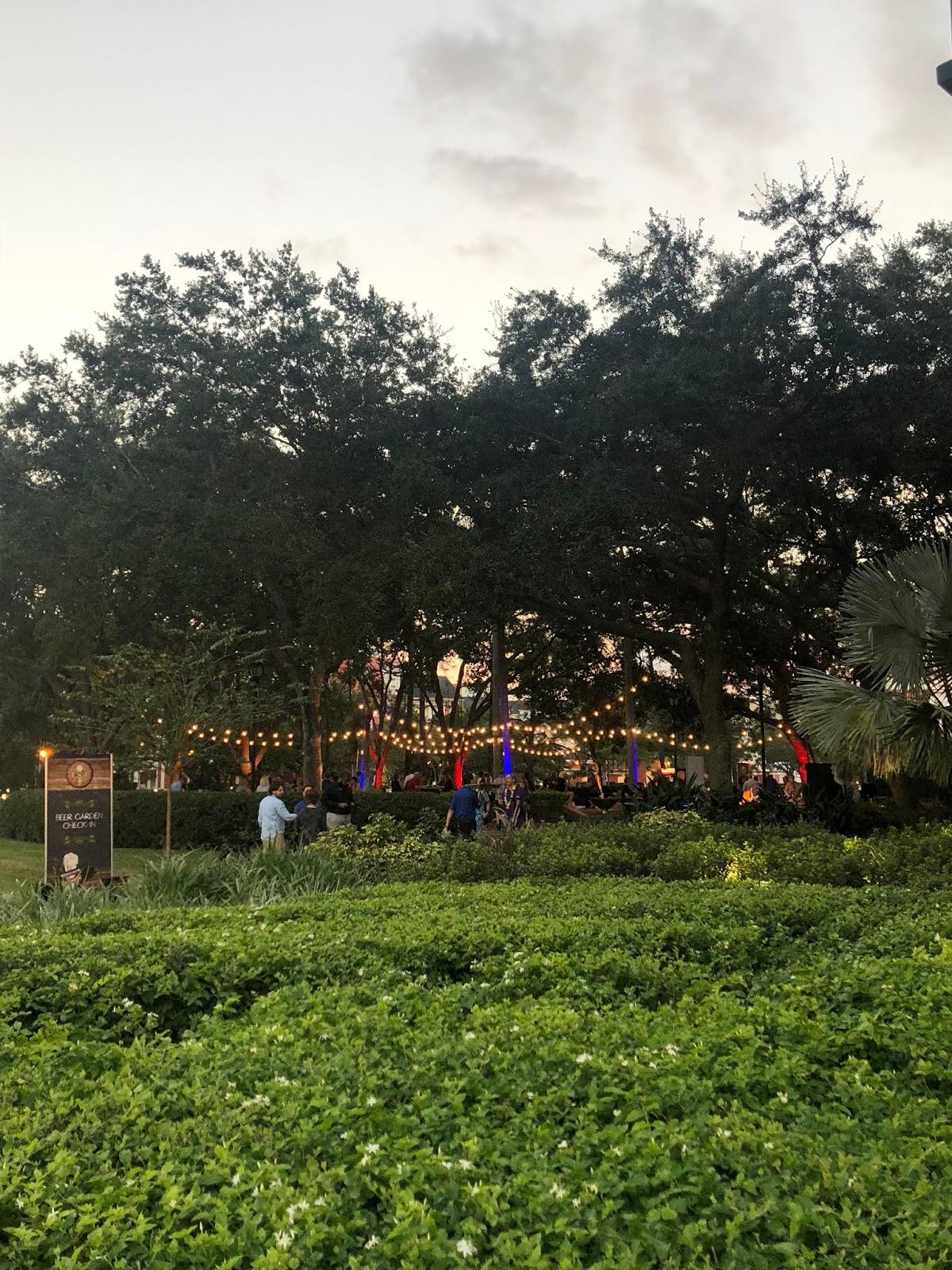 Swan and Dolphin Beer Garden