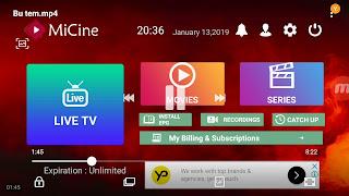 MİCine Harika Bir Kanal Listesi ile 2019'de En iyi Apk