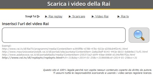 video da rai replay e video mediaset online senza programmi
