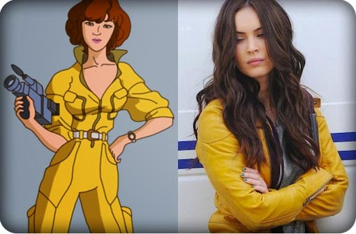 sexy Megan Fox yellow jumpsuit hot April O'Neil Ninja Turtles