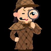 探偵のイラスト(女性)