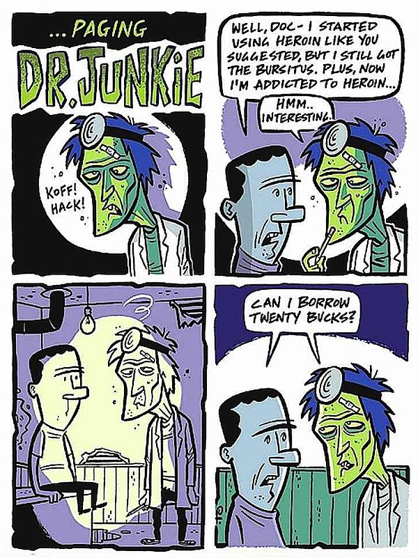 Rod Filbrandt, Paging Dr. Junky cartoon