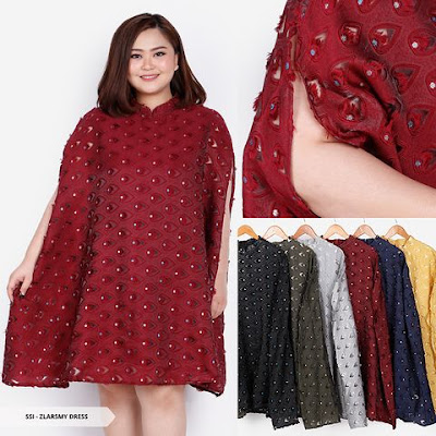 mini dress big size untuk natal 2018