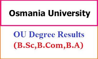 Osmania University Degree Results