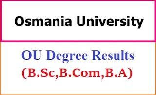 Osmania University Degree Exam Results 2021 - BA BCom BSc