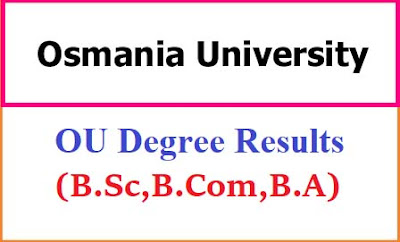 Osmania University Degree Results