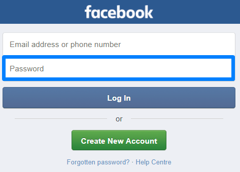 how to change username and password on facebook