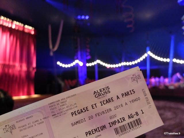 cirque alexis gruss Paris 16eme pegase icare spectacle chevaux ecuyer acrobates farfadais ticket