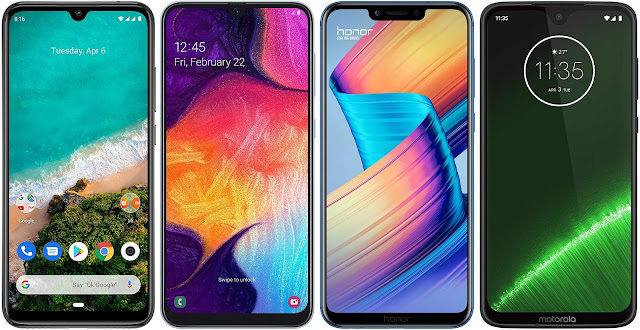 Xiaomi Mi A3 vs Samsung Galaxy A50 vs Honor Play vs Motorola Moto G7 Plus