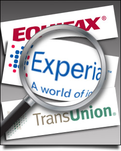 The Three Major Credit Bureaus [Equifax, Experian & TransUnion]