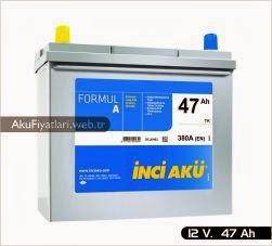 inci akü formul a asya serisi 12 volt 47 amper