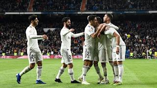 نتيجه مباراة ريال مدريد وهويسكا  في الدوري الاسباني انتهت بفوز ريال مدريد بنتيجه 3 - 2