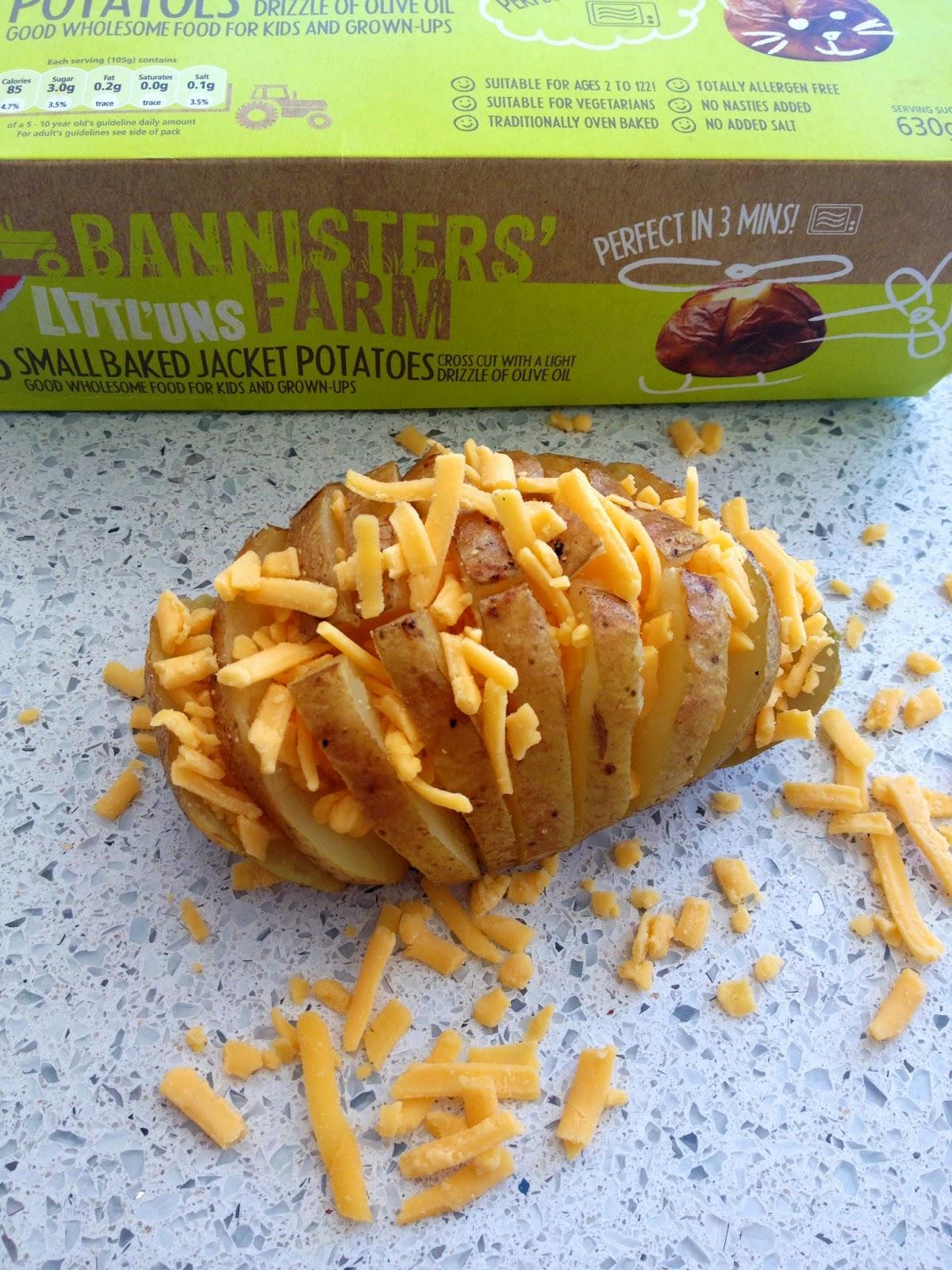 Bannisters' Farm Cheesy Beany Potato Hedgehogs Baked Jacket Potatoes