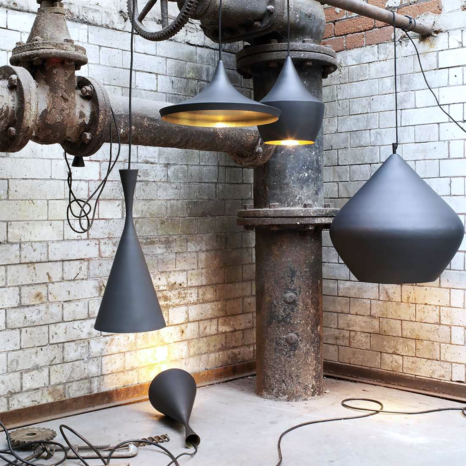 Tom dixon beat light lamps, mister design, designer lamps