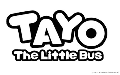 mewarnai gambar logo tayo the little bus hitam putih