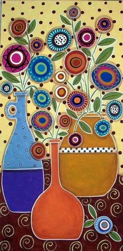 Im genes arte pinturas flores y paisajes naif en el arte - Cuadros faciles de copiar ...
