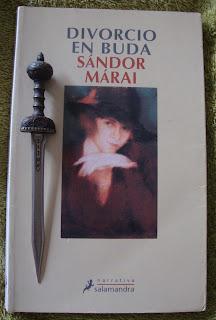 Portada del libro Divorcio en Buda, de Sándor Márai
