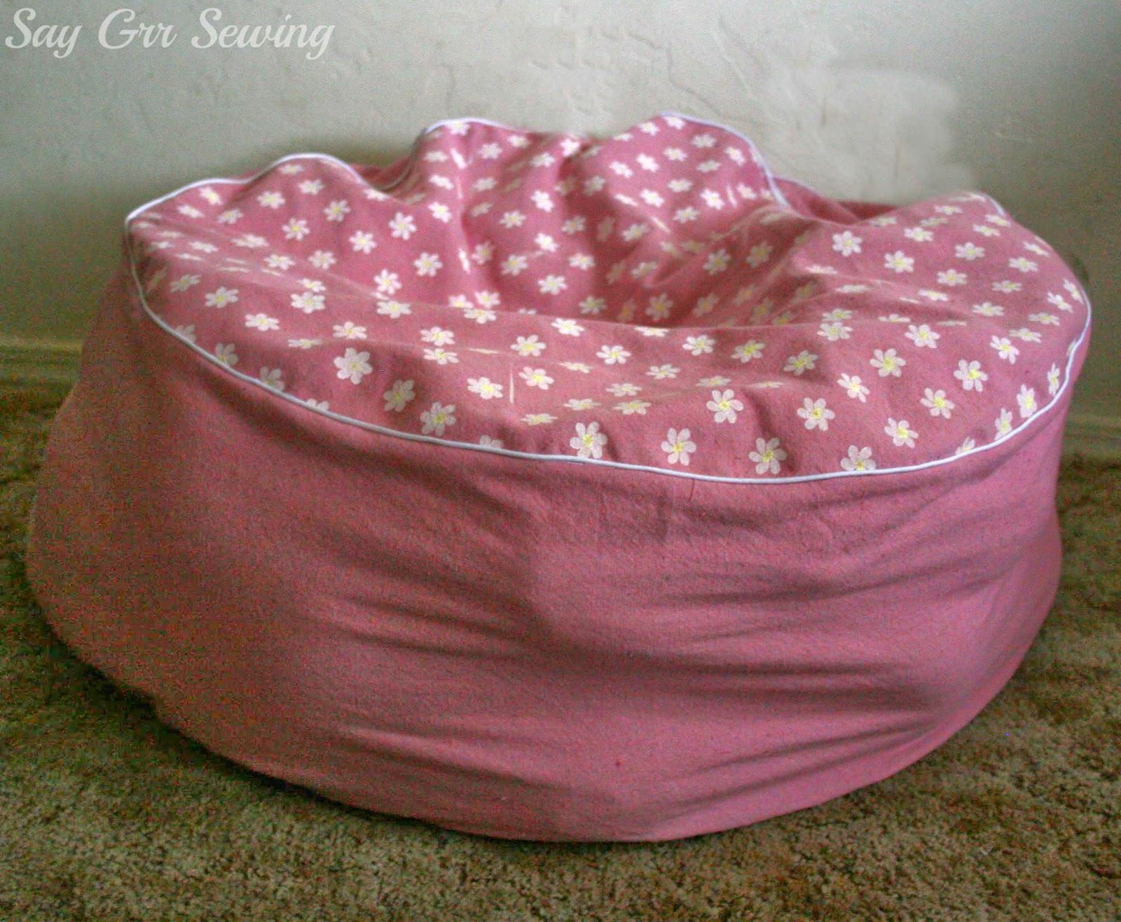 Stuffed Animal Chair Tub Blue Say Grr Sewing Storage Cushion