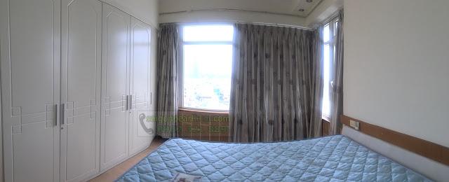 Phòng ngủ tại căn hộ cho thuê Saigon Pearl Sapphire 2 căn 140m2.