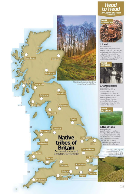 Britain's Tribal Territories  Before the Roman invasion in 55 BC, Britain was characterised by a large number of ancient tribes, each with its own culture