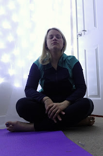woman meditating on a healthy life