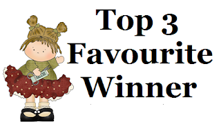 "Top 3 at Crafty Friends Challenge blog""!"
