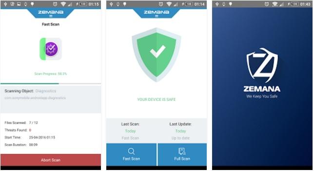 تطبيق مجاني للاندرويد للحماية من الفيروسات والبرامج الضارة والخبيثة Zemana Mobile Antivirus
