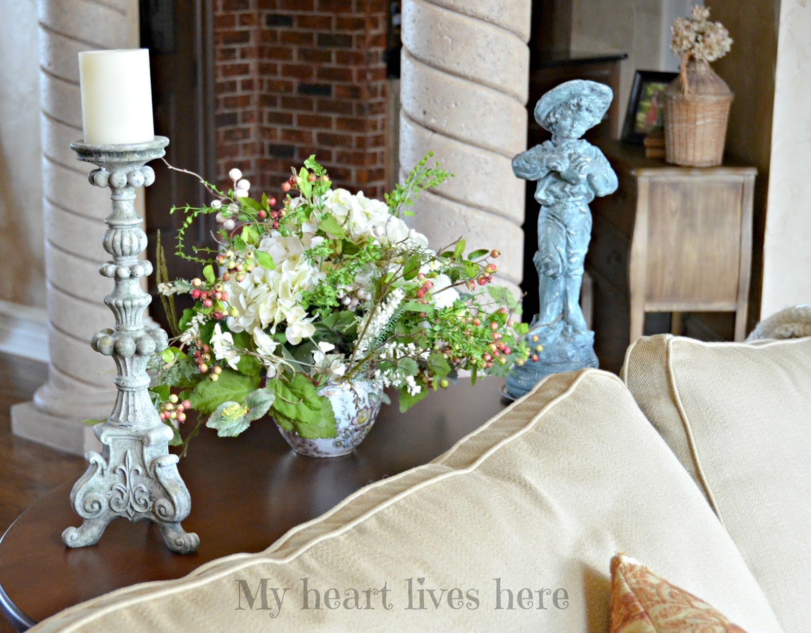 Summer in the French Country Living Room My Heart Lives Here