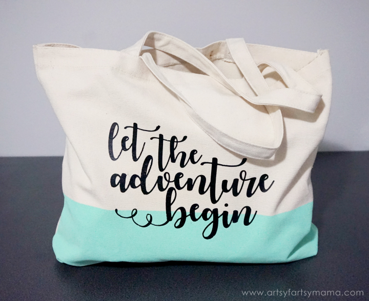 DIY Adventure Tote - Custom Newlywed Gift Tote
