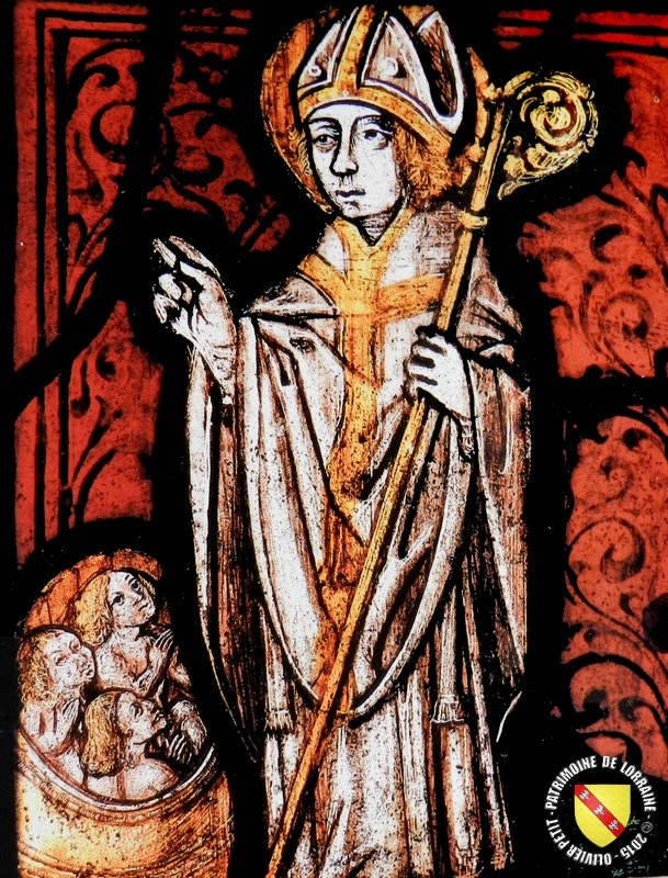 Saint-Nicolas (XVIe siècle) - Vitrail de l'église de Maxéville conservé au Musée Lorrain   de Nancy (54)