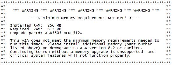 404notfound us: Cisco ASA 5505 RAM Upgrade