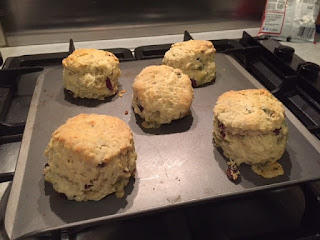 Stilton and Cranberry Scone