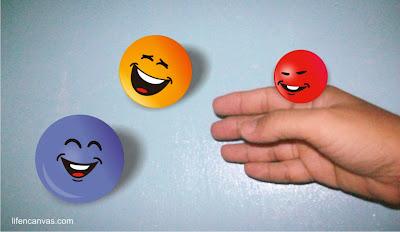 happy smiley balls