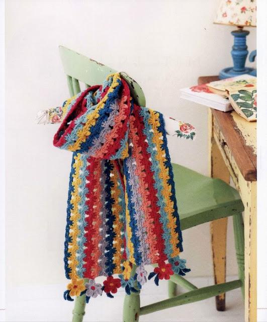 Bufanda Colorida a Crochet