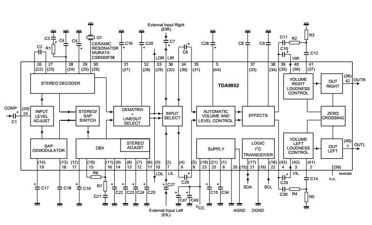 Sap Decoder And Audio Processor Amplifiercircuits Com