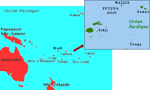 Authentic Polynesia With Three Kings Ruling A French Territory On - Wallis and futuna map