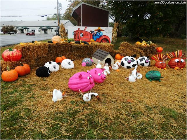 Calabazas Decoradas para Halloween: Animales de Granja
