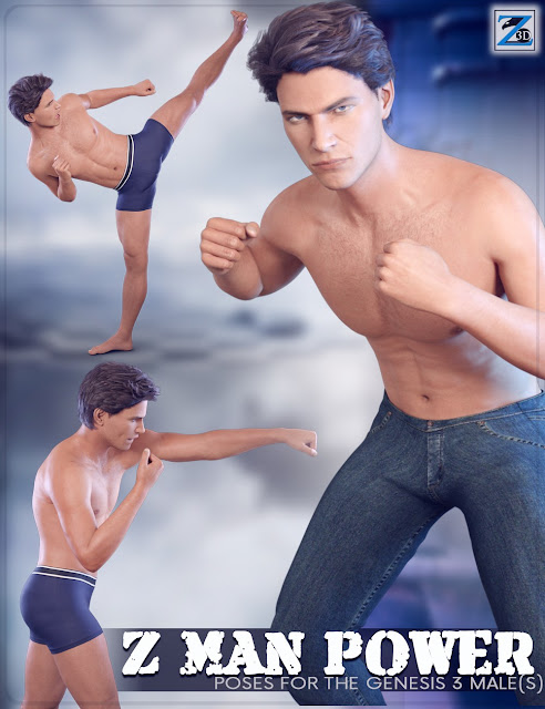 Z Man Power - Poses for the Genesis 3 Male