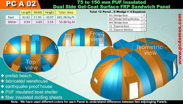 Frp Puf Sandwich Domes House Pu Frp Sandwich Domes House