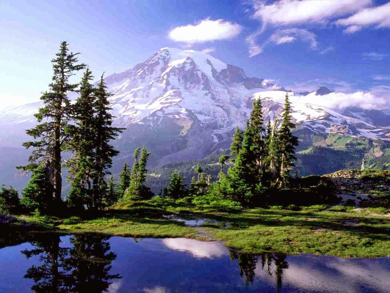 landscape mountain beautiful wallpaper - photo #15