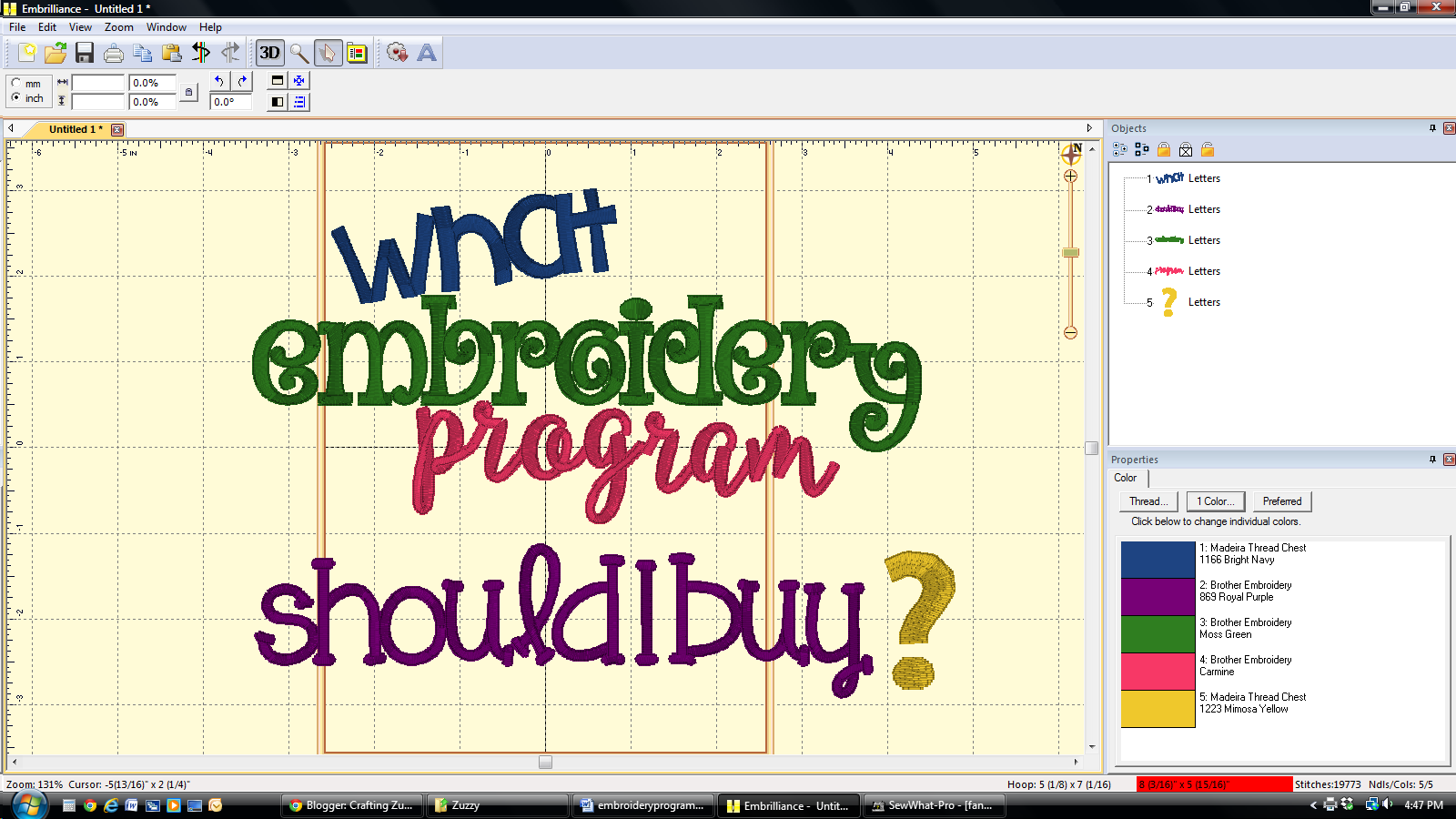 Crafting Zuzzy What Is The Best Machine Embroidery Program