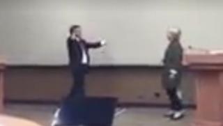 Video Shows Hillary Clinton Practicing Avoiding Trump's Hugs
