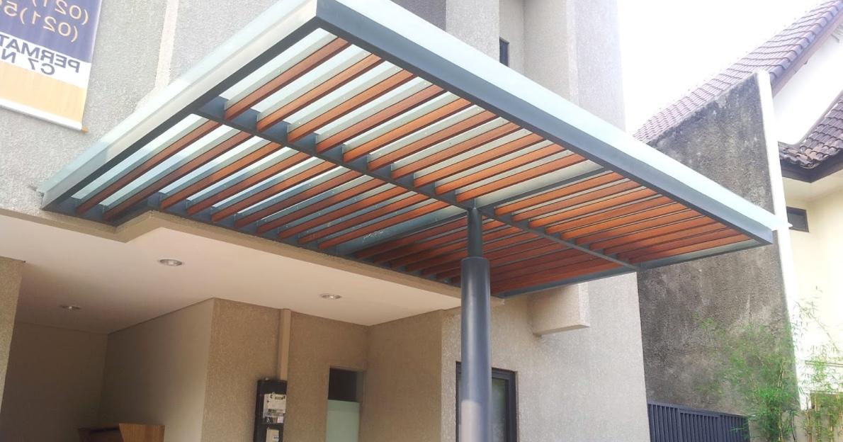 kanopi baja ringan tanpa tiang penyangga hot desain minimalis