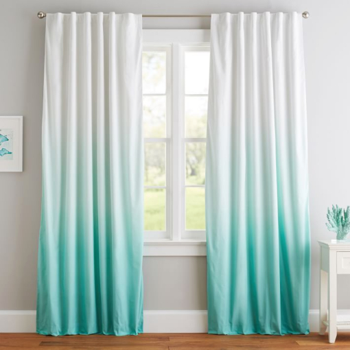 Turquoise Dip Dye Curtains